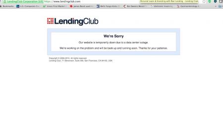 LendingClub Site Crash Rattle Investors