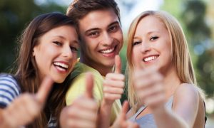 Young consumers feeling good