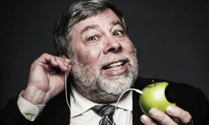 Wozniak With Earbuds